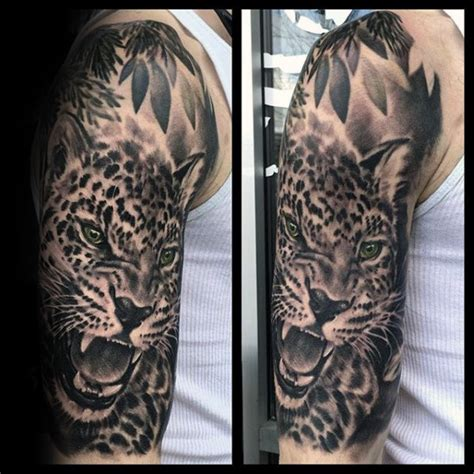 60 leopard tattoos for men designs with strength and prowess