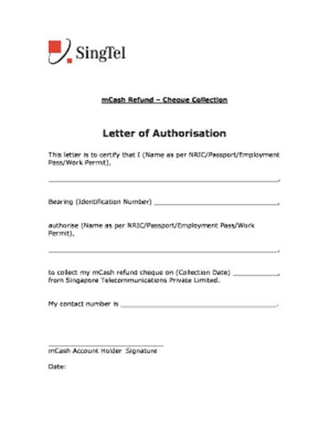 Authorization Letter Nric Authorisation Letter To Collect Documents Forms And Templates Fillable Printable Sles For