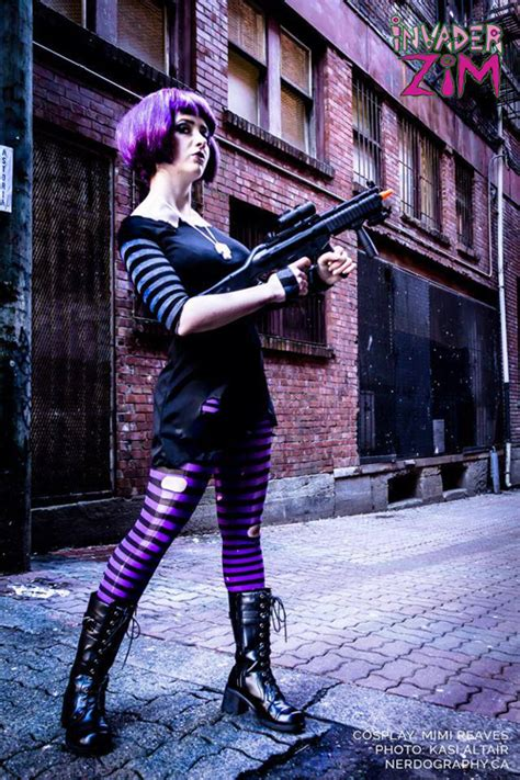 Purple Wall Mural post apocalyptic gaz from invader zim cosplay