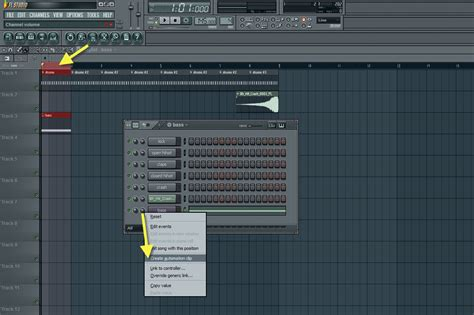 fl studio automation clip tutorial creating automation clip for the bass channel volume