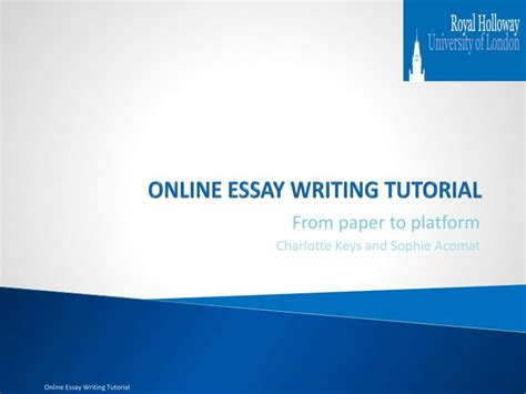 online tutorial powerpoint ppt online essay writing tutorial powerpoint