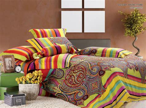 luxury egyptian cotton satin paisley bedding set bohemia