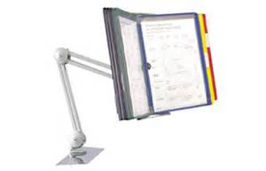 document holder for desk pivot arm with 10 color coded document holder sleeves