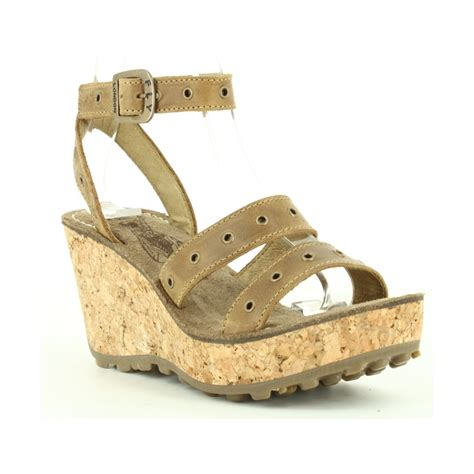 fly sandals fly grid cork wedge sandal camel fly from