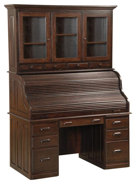 60 desk with hutch 60 computer deluxe rolltop desk with hutch amish