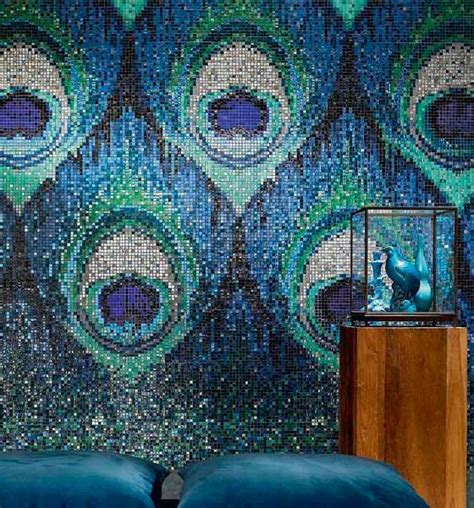pavo real blue sicis ipix mosaic art interiors