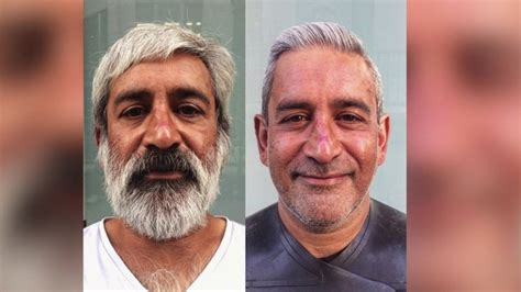 homeless haircuts before and after the hairdresser for the homeless bbc news