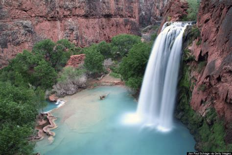 there are hidden waterfalls in the grand canyon huffpost