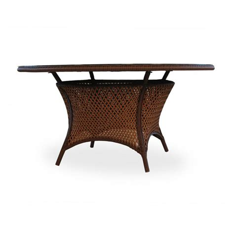 60 Inch Patio Table Lloyd Flanders Grand Traverse 60 Inch Wicker Dining Table With Glass Top 71060