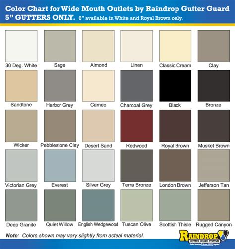 gutter colors acm gutter colors coloringsite co