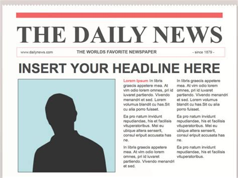 Editable Powerpoint Newspapers Creating Newsp Newspaper Template Docs