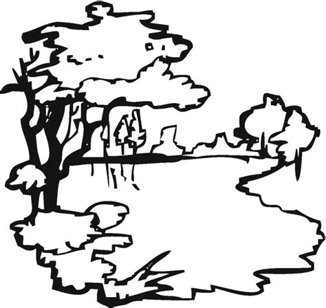 Lake Coloring Pages Coloring Pages Lake Coloring Page