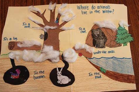Winter Animal Crafts - shhh bears hibernating our january bulletin board