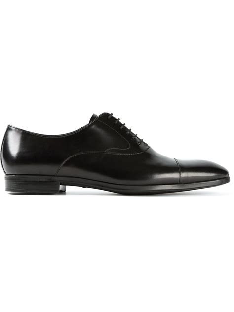 emporio armani formal derby shoes in black for lyst