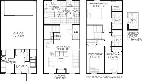 En Suite Bathroom Floor Plans | x master bedroom floor plan with bath and walk in closet
