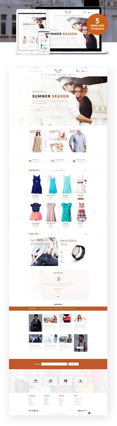 Fashion Ecommerce Website Templates Free Psd Download Download Psd Clothing Brand Website Template