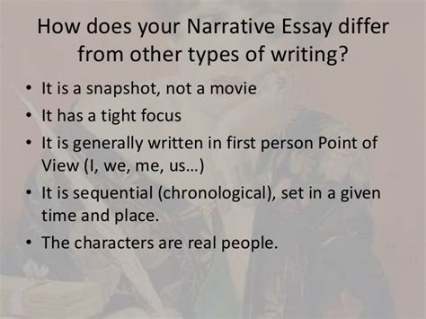 Tips On Writing A Narrative Essay by Narrative Essay Tips