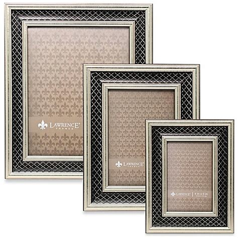 bed bath and beyond lawrence lawrence frames silver black lattice picture frame bed bath beyond