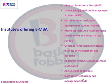Mba In Welingkar Institute Of Management by Alliance Baskin