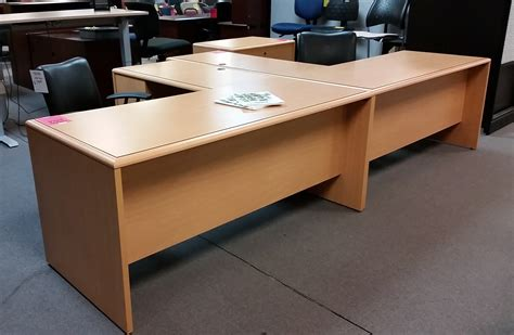 maple l shaped desk values new and used office furniture thrifty