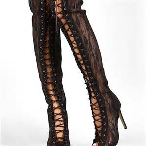 Tom Ford Thigh High Boots 68 Tom Ford Inspired Boots Thigh High Lace Up