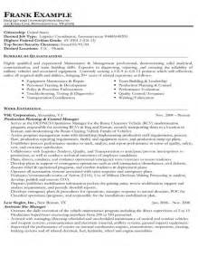 Federal Resume Templates by Resume Sles Types Of Resume Formats Exles And Templates