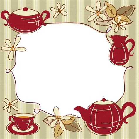 TEA / COFFEE TIME   FRAMES / BORDERS / CORNERS   Pinterest   Coffee time, Teas and Coffee