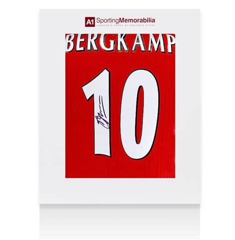 arsenal number 10 dennis bergk signed arsenal shirt number 10 gift box