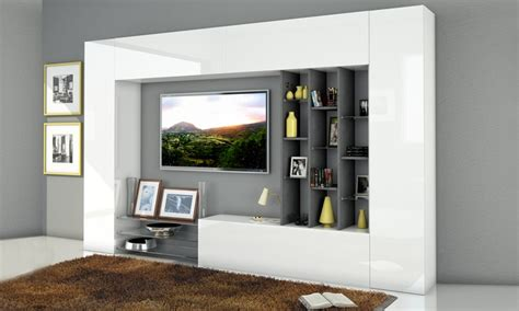 mobili a parete per soggiorno mobili da parete per soggiorno groupon goods