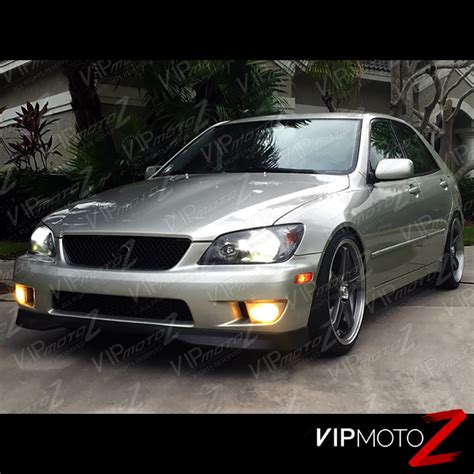 lexus is300 jdm 2001 2005 lexus is300 quot jdm crystal black quot front headlights