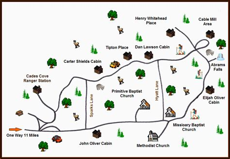 cades cove map pin by suzanne jolly on great smoky mountains