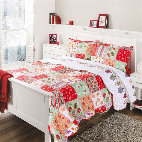 Lightweight Quilt Sets Save 43 Bedsure Quot Yule Tide Quot Printed Quilt Set
