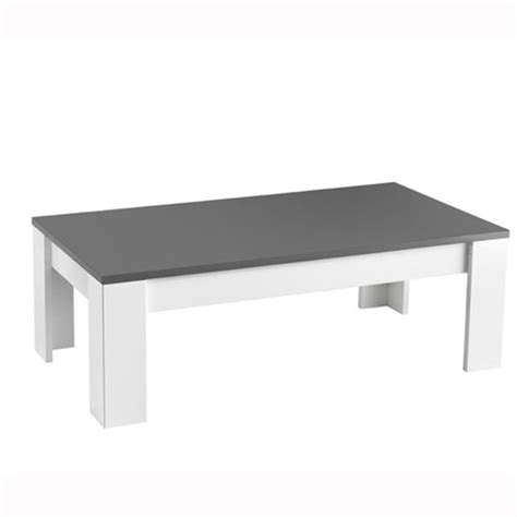 white and grey coffee table lorenz coffee table rectangular in white and grey high