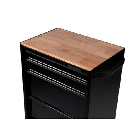 husky 27 in hardwood tool cabinet top for rolling cabinet