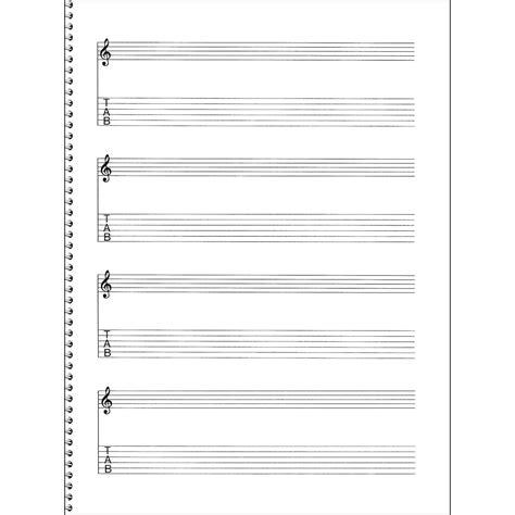 How To Make Manuscript Paper - sales passantino guitar manuscript paper spiral pad
