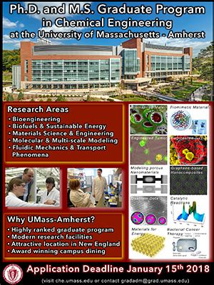 Umass Amherst Mba Calendar by Graduate Students Chemical Engineering Umass Amherst