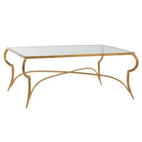 gold leaf coffee table yuri bazaar regency curved iron gold leaf coffee table
