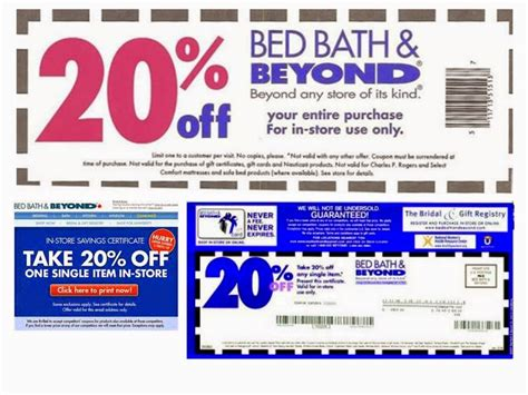 bed bath 20 coupon free printable coupons bed bath and beyond coupons