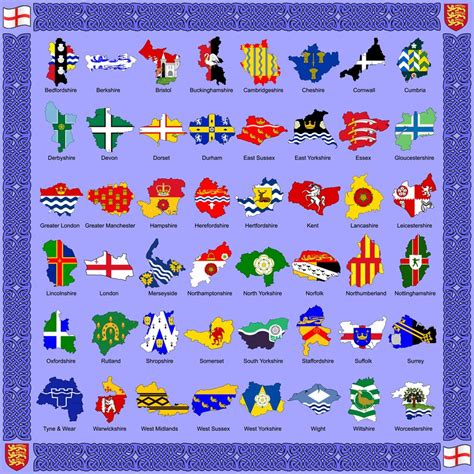 4 the of go l d the counties and flags of by golborne identity on