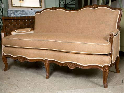 french provincial settee pair of french provincial style settees at 1stdibs