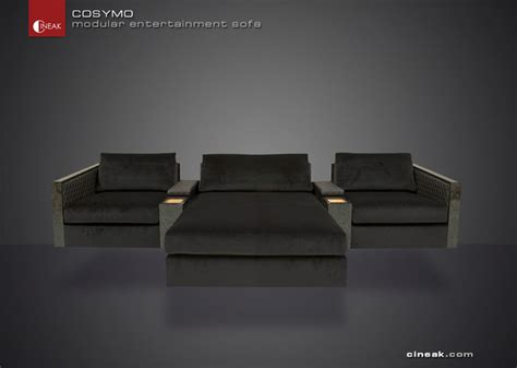 media room and home theater sectional sofa by cineak