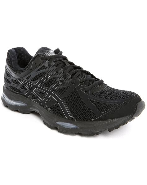 asics black sneakers asics gel cumulus 17 black and silver and onyx sneakers in