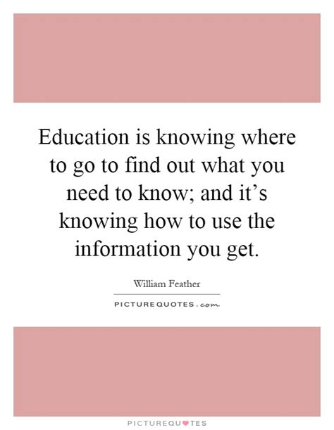 How To Find Out What Want Education Is Knowing Where To Go To Find Out What You Need To Picture Quotes