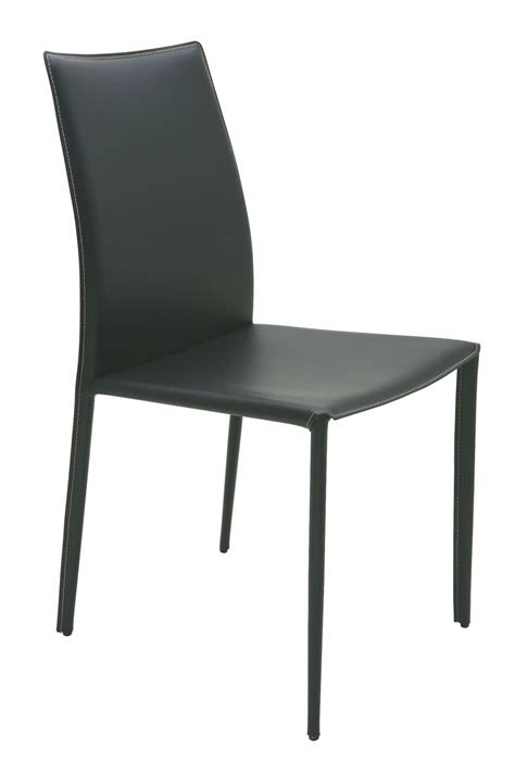 Sienna Black Leather Corner Stitched Dining Chair From Corner Dining Chairs