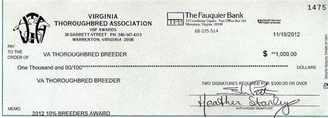 Va Background Check Va Bred Bonus Checks Heading Out Virginia Thoroughbred Association