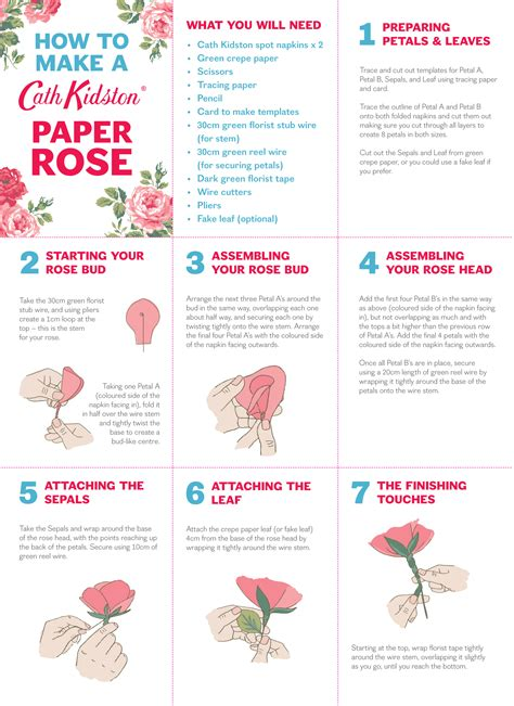 How To Make Paper Roses Step By Step With Pictures - how to make a paper cath kidston