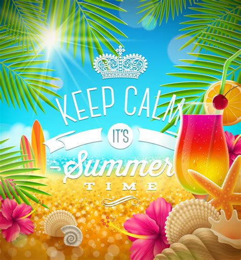 summer parties charming summer party poster template vectors 02 vector