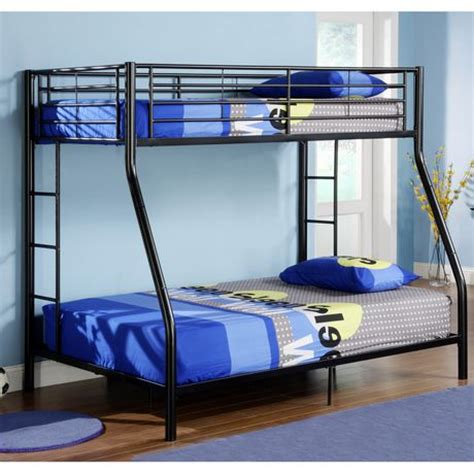 double twin bunk bed twin over double bunk bed black walmart ca