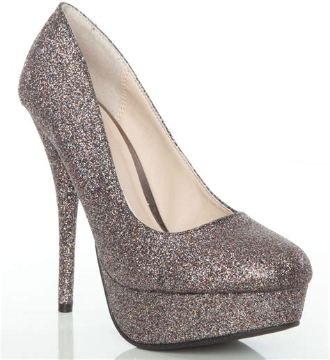 glitter shoes heels prom shoes