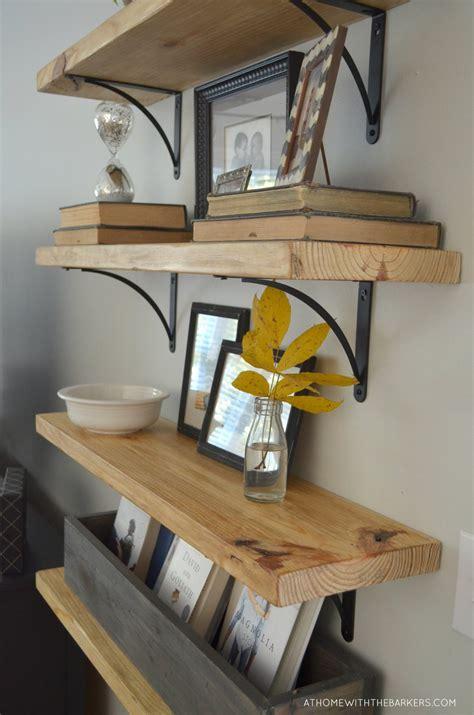 diy rustic wood shelves  home   barkers